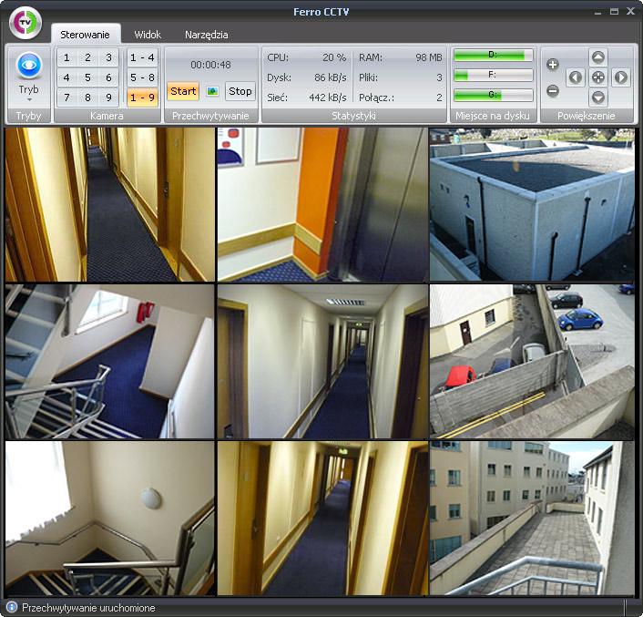 Bardzo dobra Ferro CCTV - program do monitoringu obsługujący kamery USB i OI23